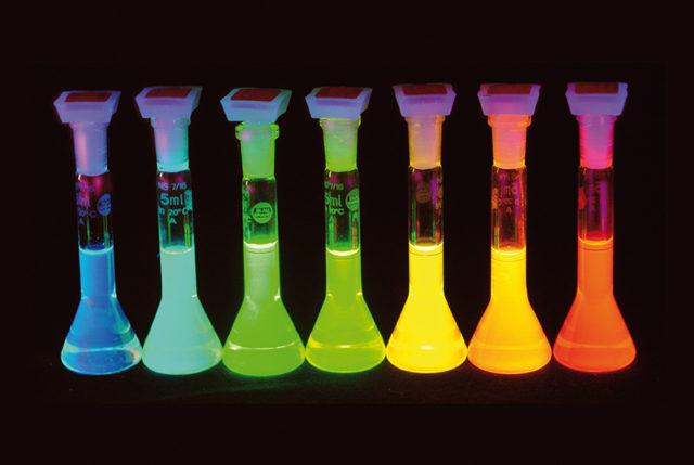 Fluoreszierende Flüssigkeiten