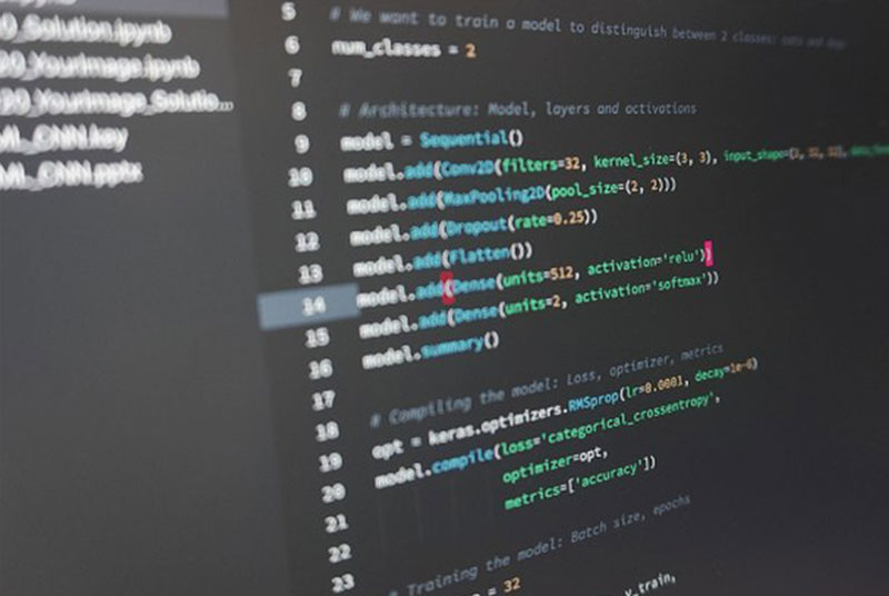 Bildschirm mit Code